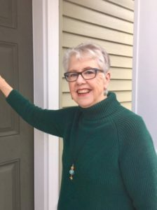 Mary Dickinson knocking on doors